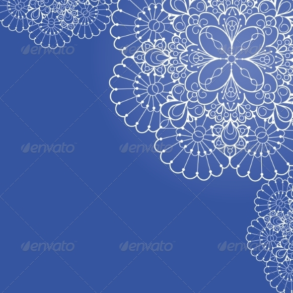GraphicRiver Background with Lace Ornament 6837089