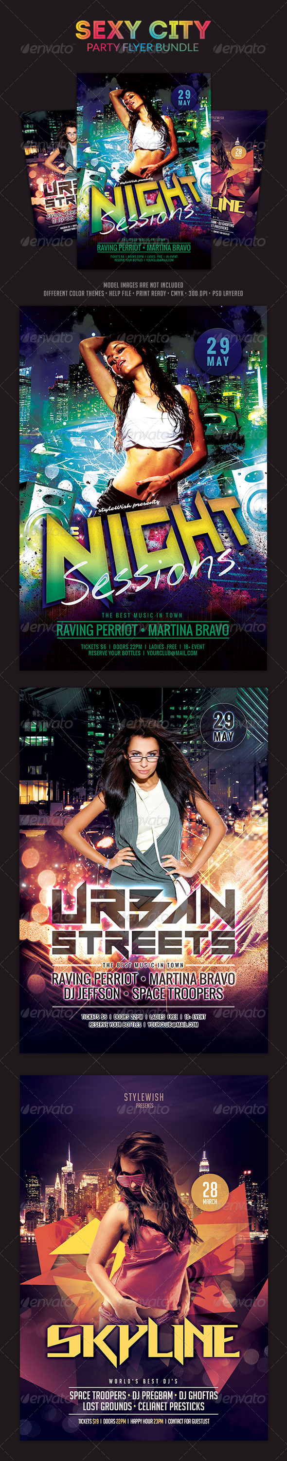 Sexy City Party Flyer Bundle - Clubs & Parties Events
