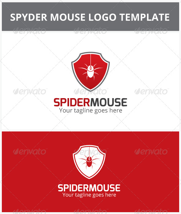 GraphicRiver Spider Mouse Logo 6837137