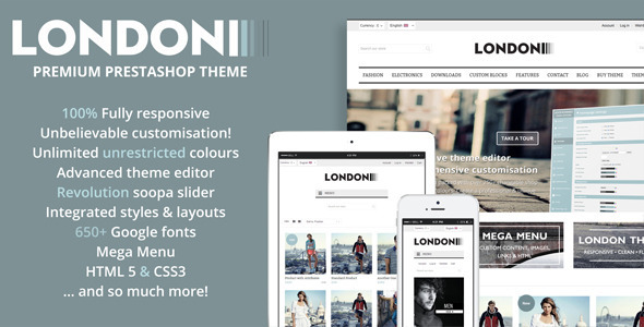 ThemeForest London Premium responsive Prestashop theme 6818284