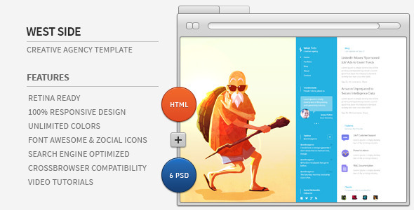 ThemeForest West Side Creative Agency HTML 6822686