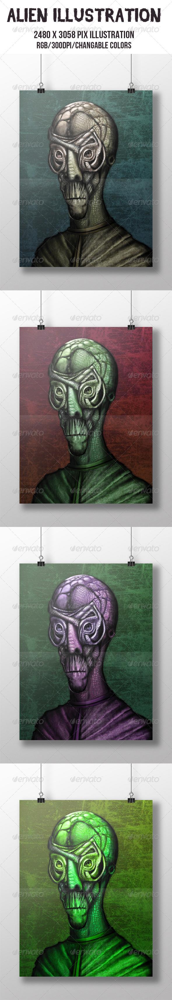 GraphicRiver Alien Illustration 6837544
