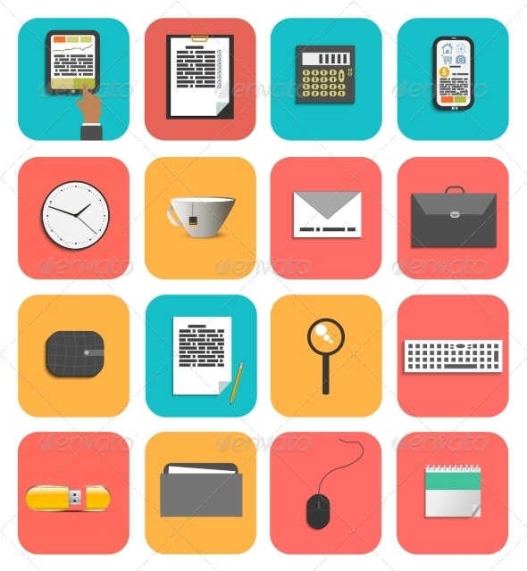 GraphicRiver Set of Office and Business Work Elements 6837592