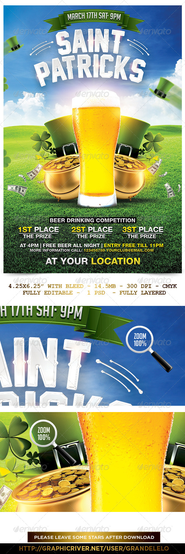 GraphicRiver Saint Patrick's Day Flyer Template 6837692