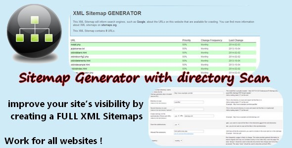 CodeCanyon Sitemap Generator with directory scan 6790435