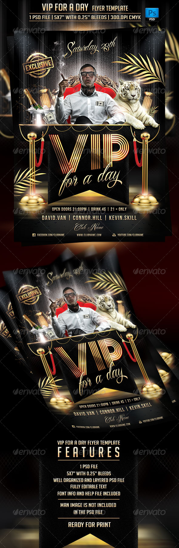 GraphicRiver VIP For a Day Flyer Template 6837786