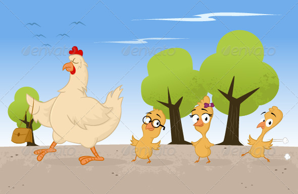 GraphicRiver Chicken Family 6837789
