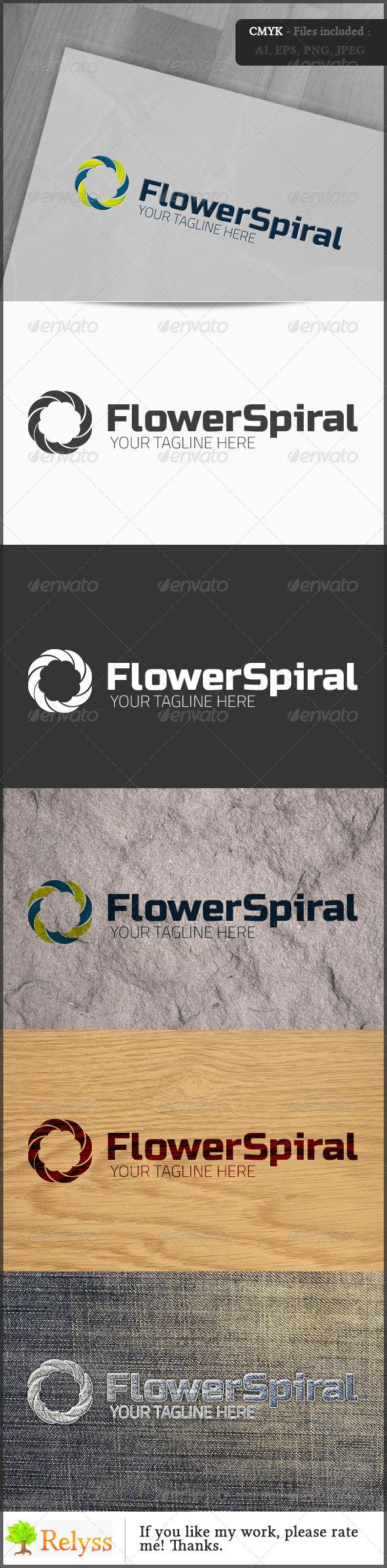 GraphicRiver FlowerSpiral Logo 6837831