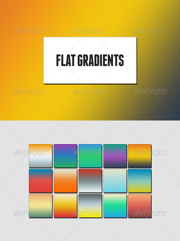 GraphicRiver Flat Design Gradients 6837843