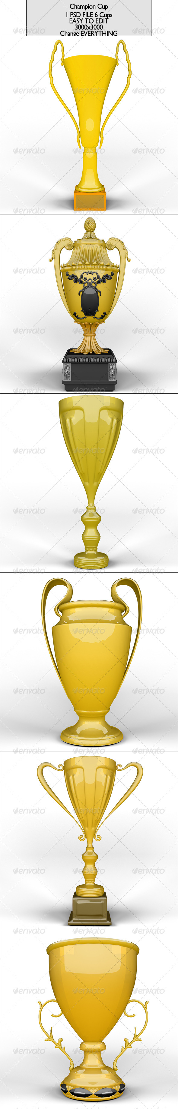 GraphicRiver Champion Cup Pack 6837863