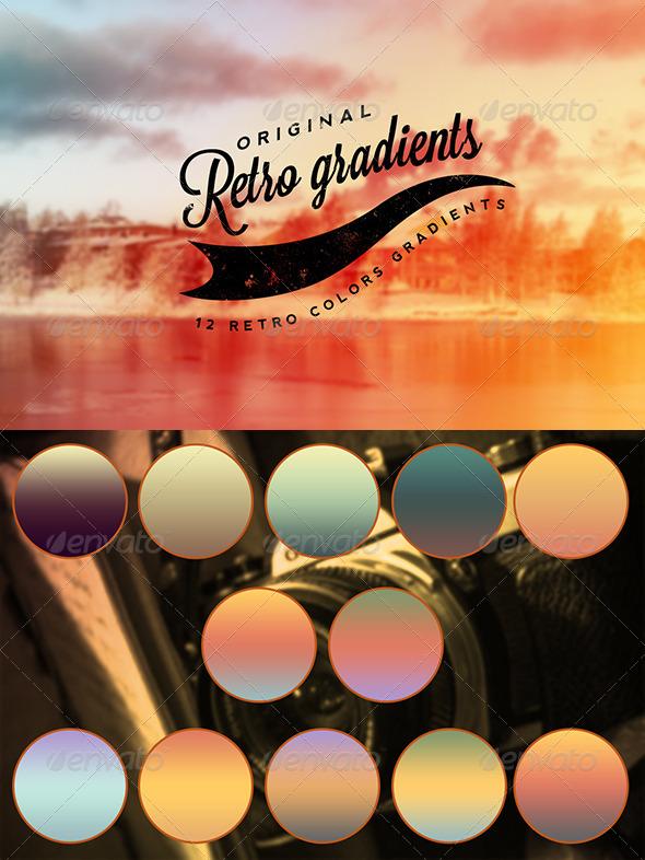 GraphicRiver Retro Colors Gradients 6837888