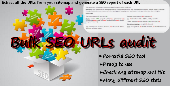CodeCanyon Bulk SEO URLs audit sitemap scan 6790505