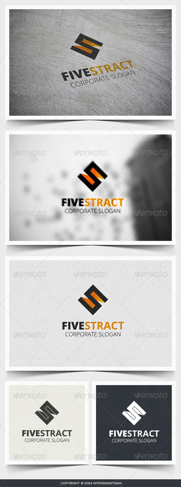 GraphicRiver Fivestract Logo Template 6837994