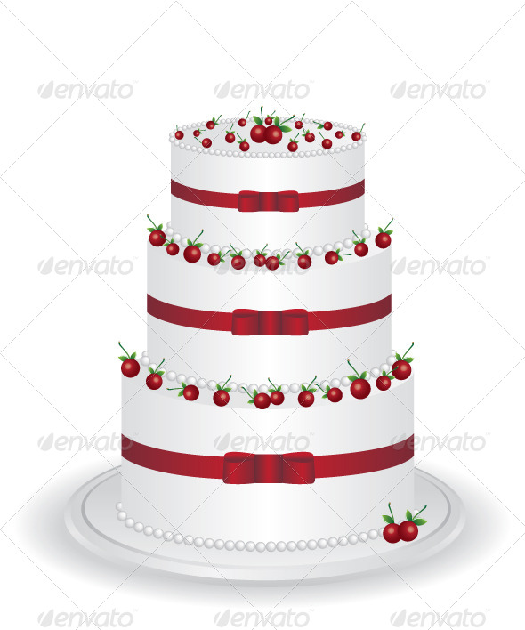 GraphicRiver White Cake with Cherry 6837997