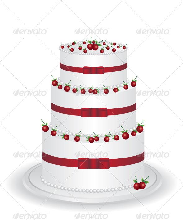 White Cake with Cherry