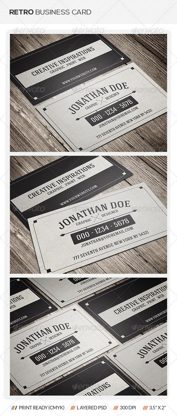 GraphicRiver Retro Business Card 6837999