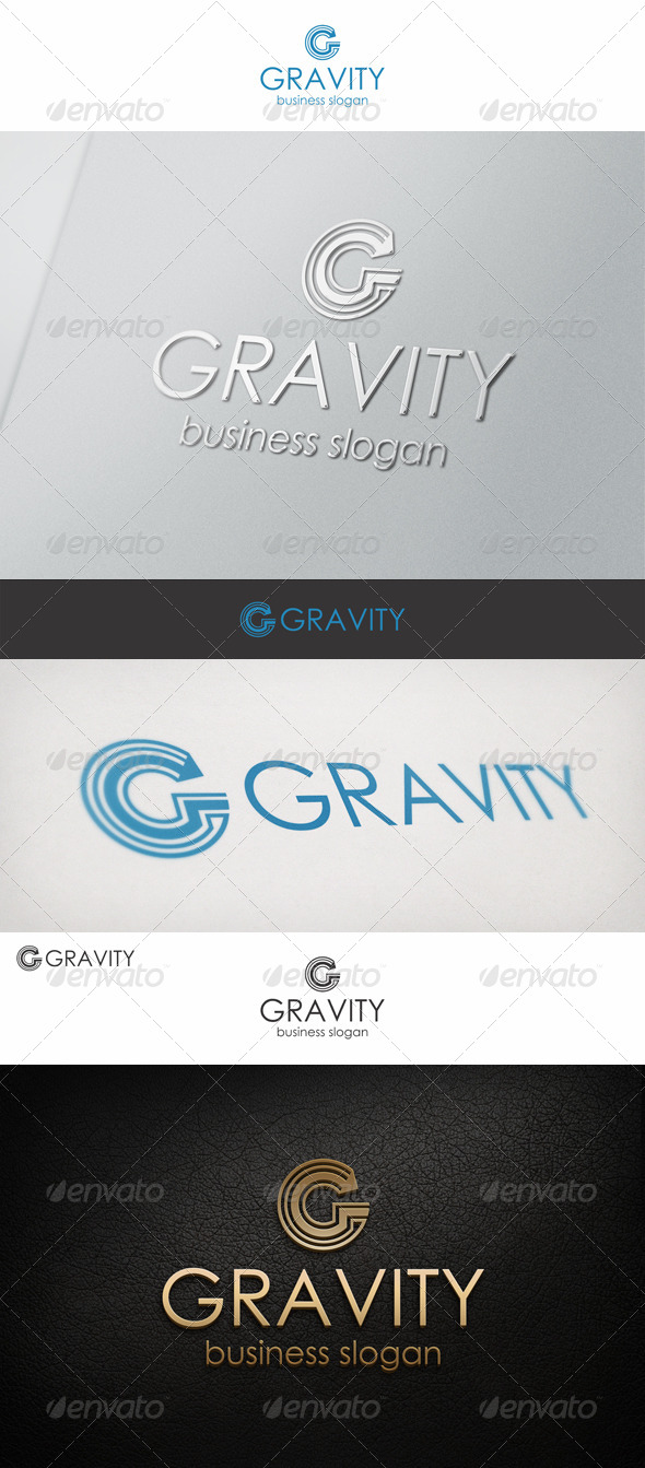 GraphicRiver G Logo Letter Gravity 6837998