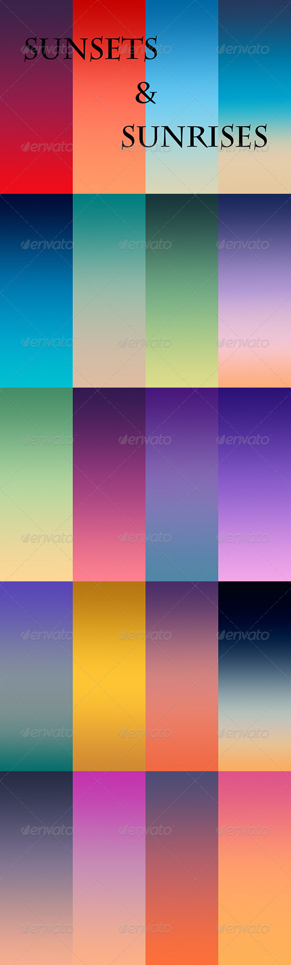 GraphicRiver Sunsets And Sunrises 6838044