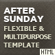 After Sunday Template - Flexible and Multipurpose