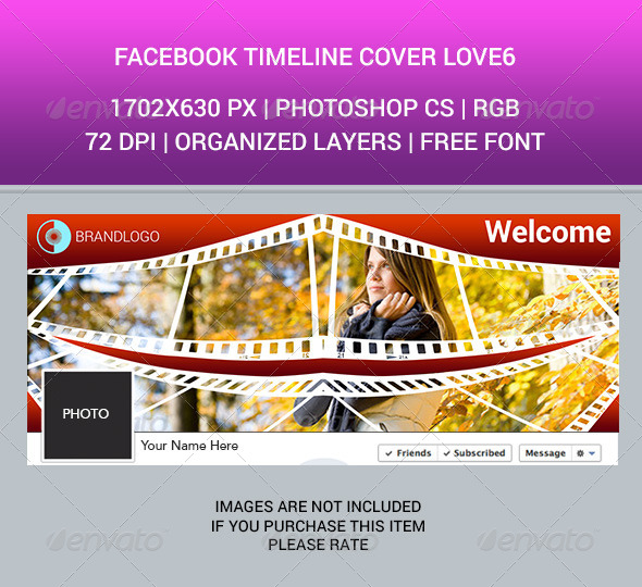 GraphicRiver Facebook Timeline Cover Love6 6838102