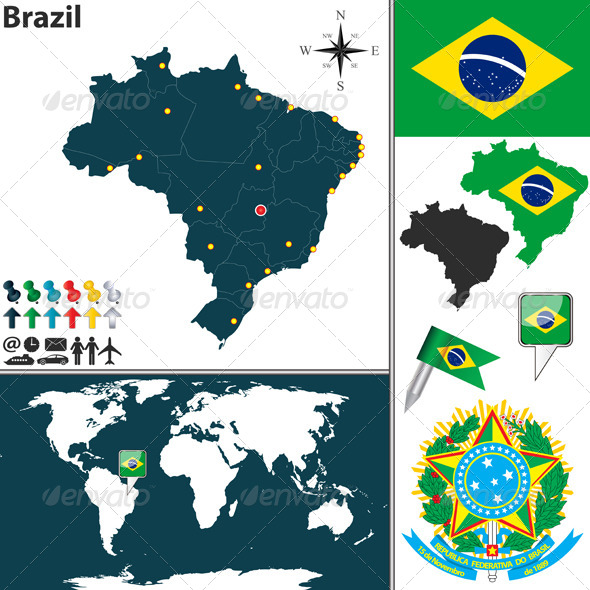 GraphicRiver Map of Brazil 6838210