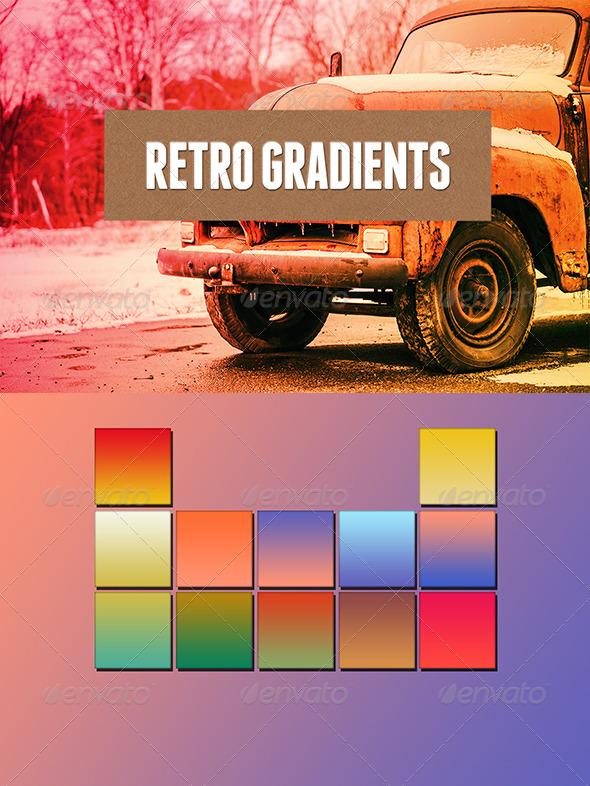 GraphicRiver Retro Colors Gradients #2 6838243