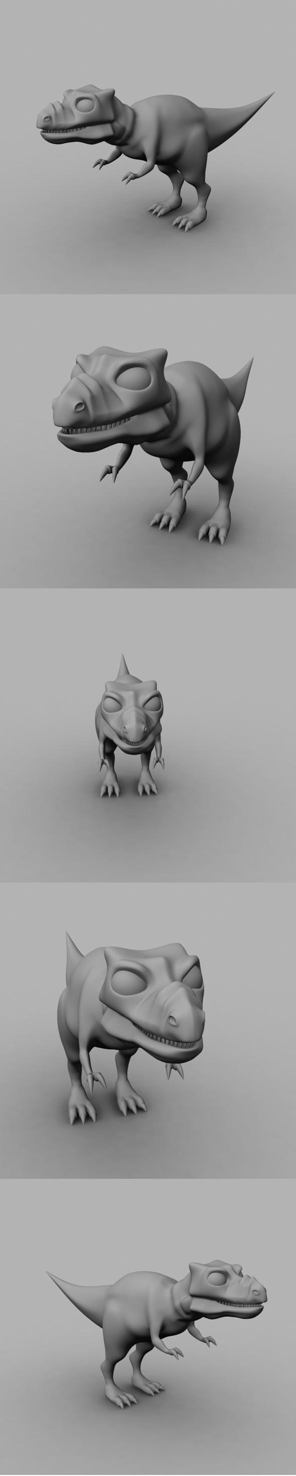 3DOcean Dinosaur Model 6838266