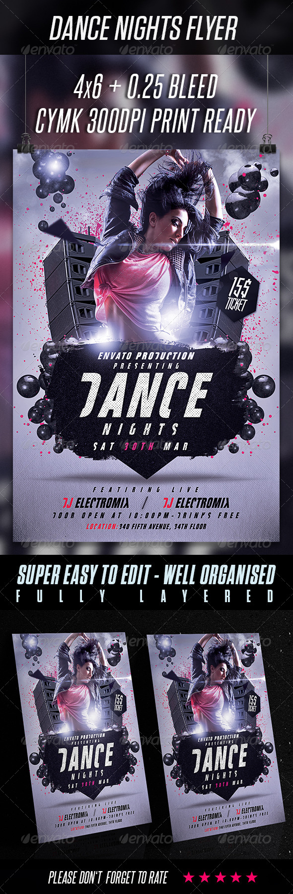 GraphicRiver Dance Nights Flyer Template 6838292