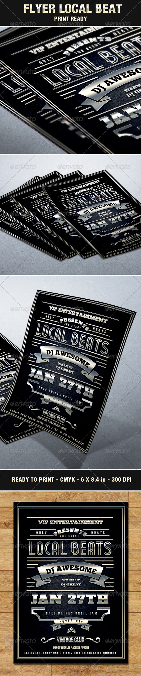 Vintage & Elegant Flyer Local Beats