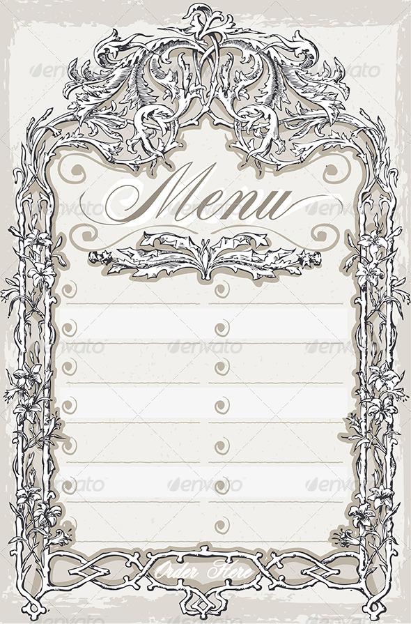GraphicRiver Vintage Graphic Page for Bar or Restaurant Menu 6838534