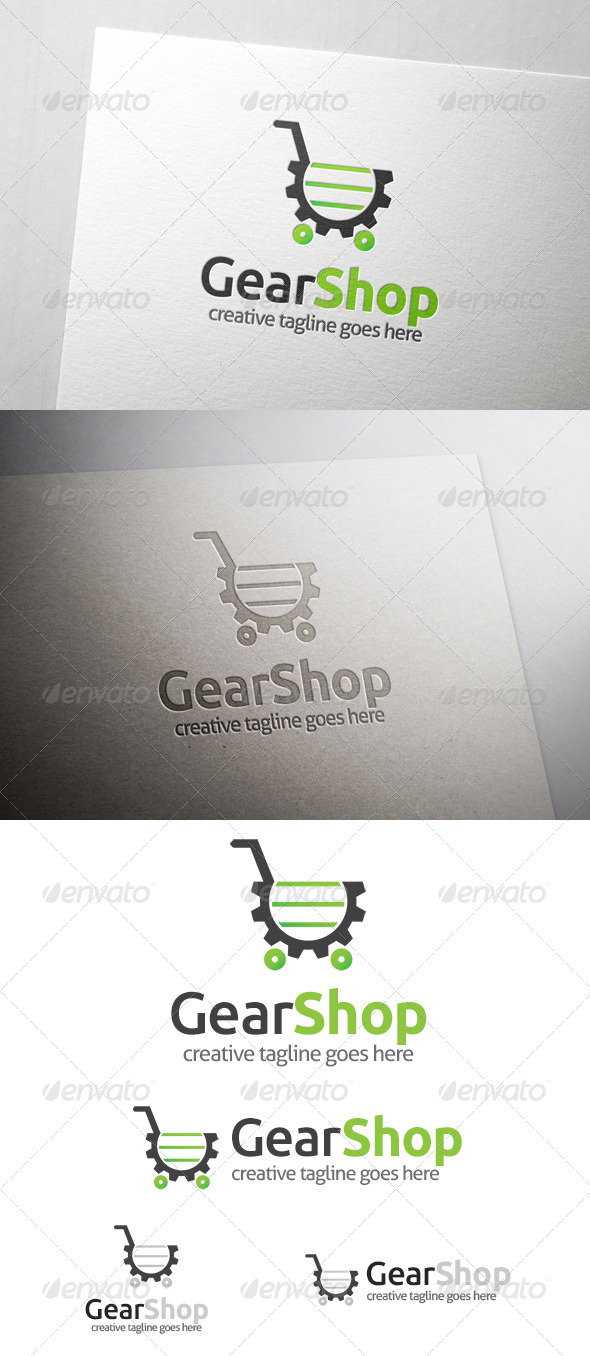 GraphicRiver Gear Shop Logo 6839633