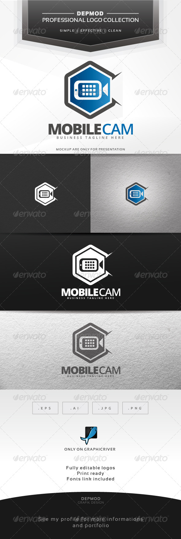 GraphicRiver Mobile Cam Logo 6839652