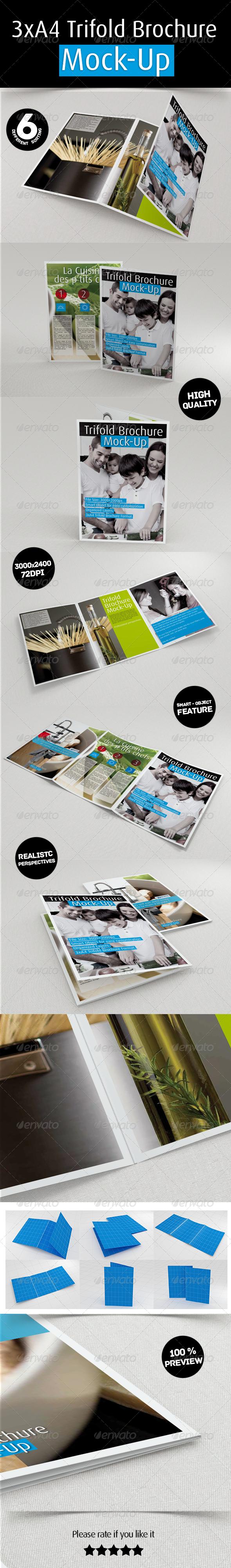 GraphicRiver 3xA4 Trifold Brochure Mockup 6837257