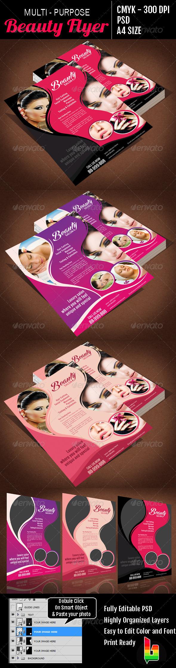 GraphicRiver Multi Purpose Beauty Flyer 6823908