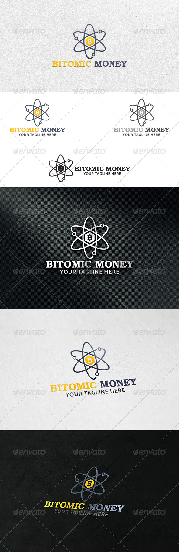GraphicRiver Atomic Money Logo Template 6839686