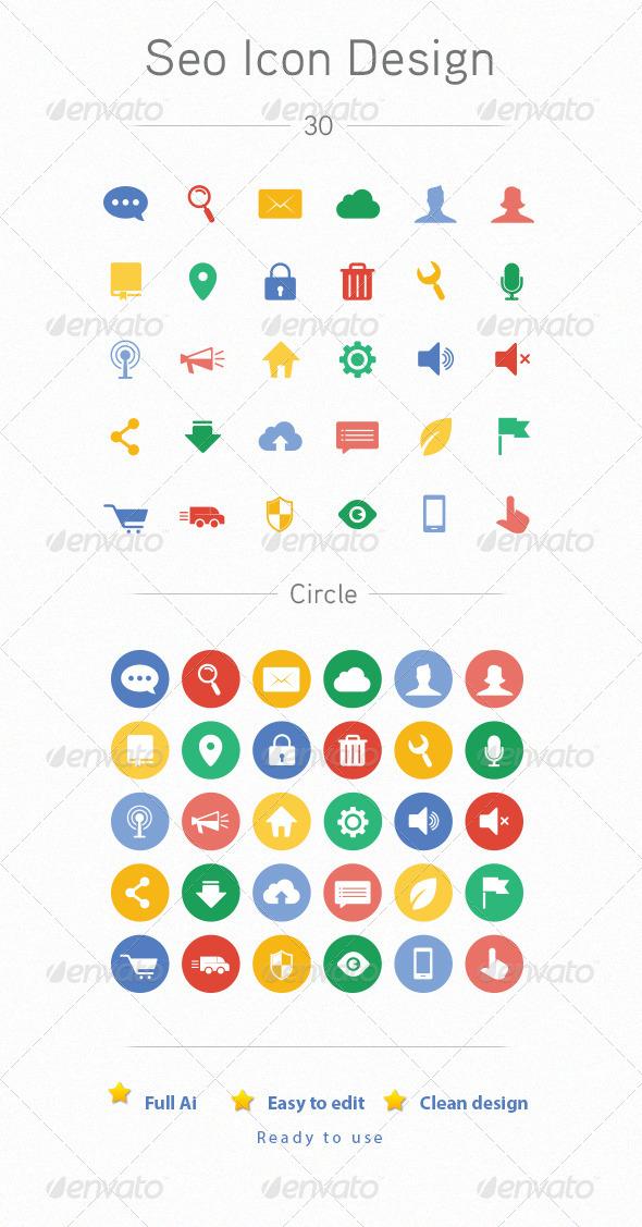 GraphicRiver Seo Icon Design 6839754
