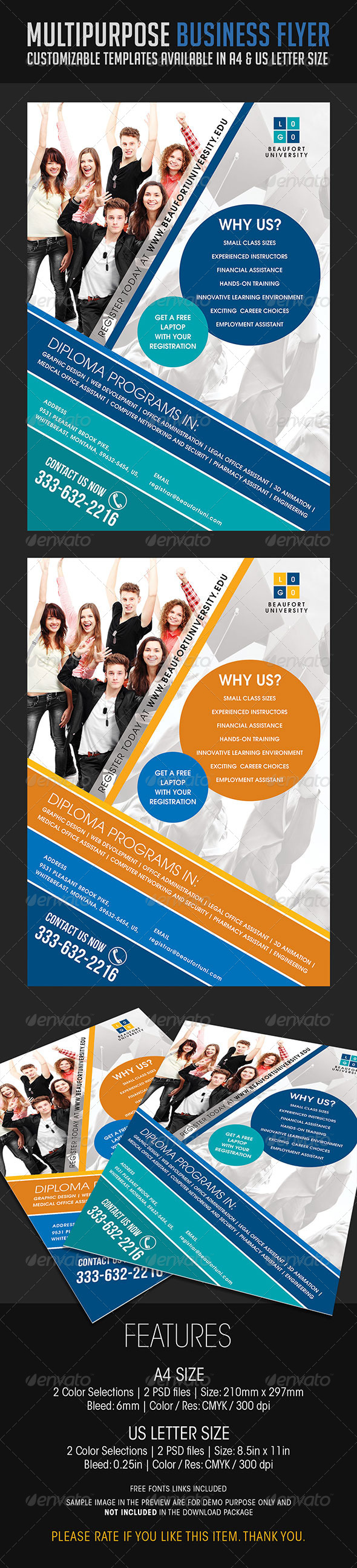 GraphicRiver Multipurpose Business Flyer 09 6839774