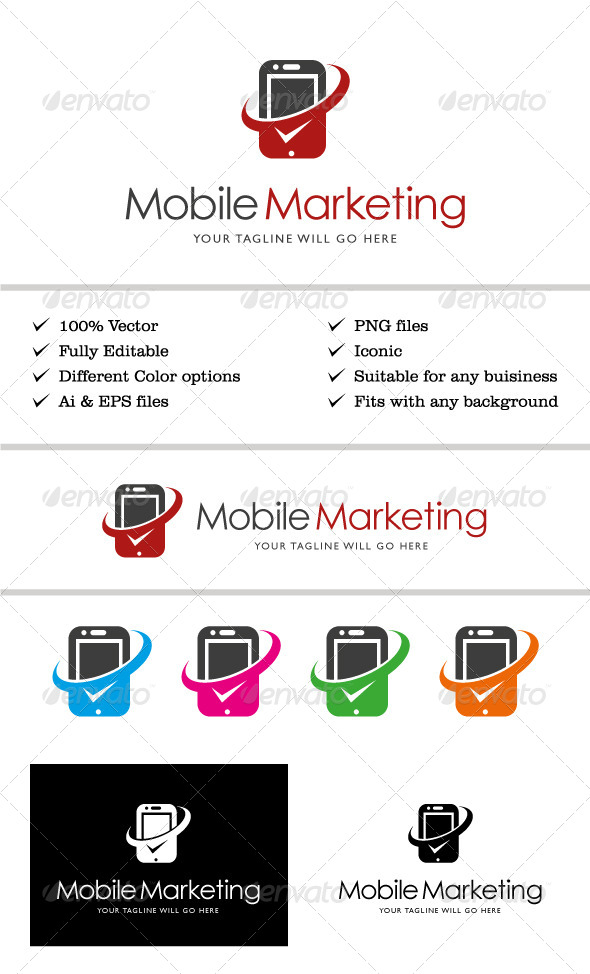 GraphicRiver Mobile Marketing Logo 6839845