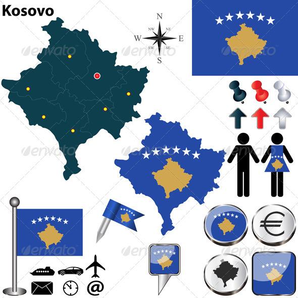 GraphicRiver Map of Kosovo 6839884