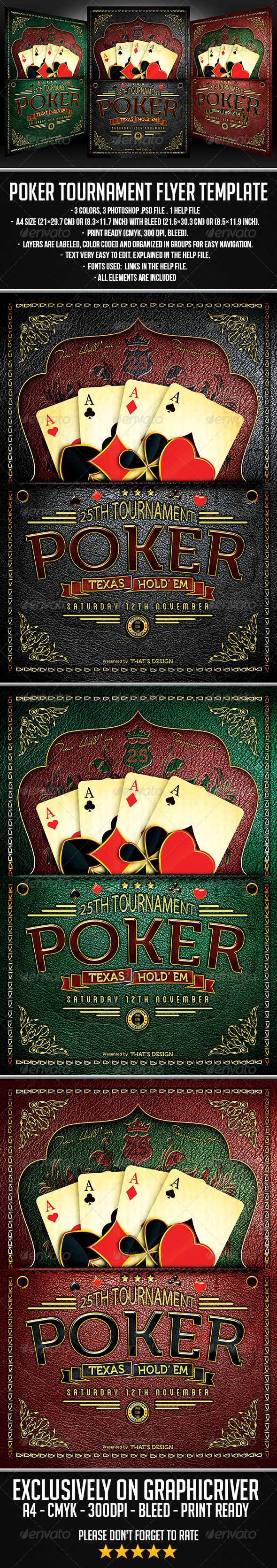 GraphicRiver Poker Tournament Flyer Template 6839931