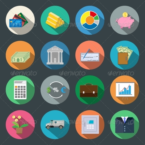 GraphicRiver Finance Fat Icons 6840329