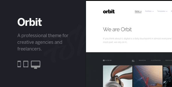 Orbit - Professional WordPress Portfolio Theme - Creative WordPress