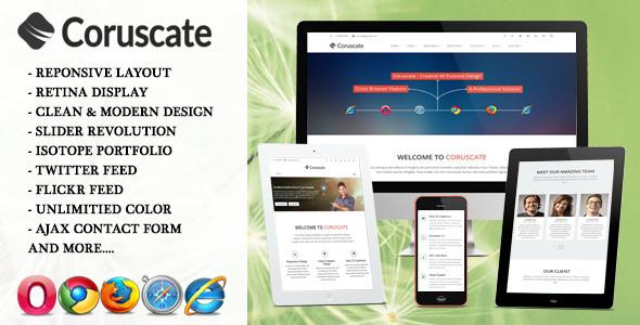 ThemeForest Coruscate Multi-Purpose Responsive HTML Template 6819298