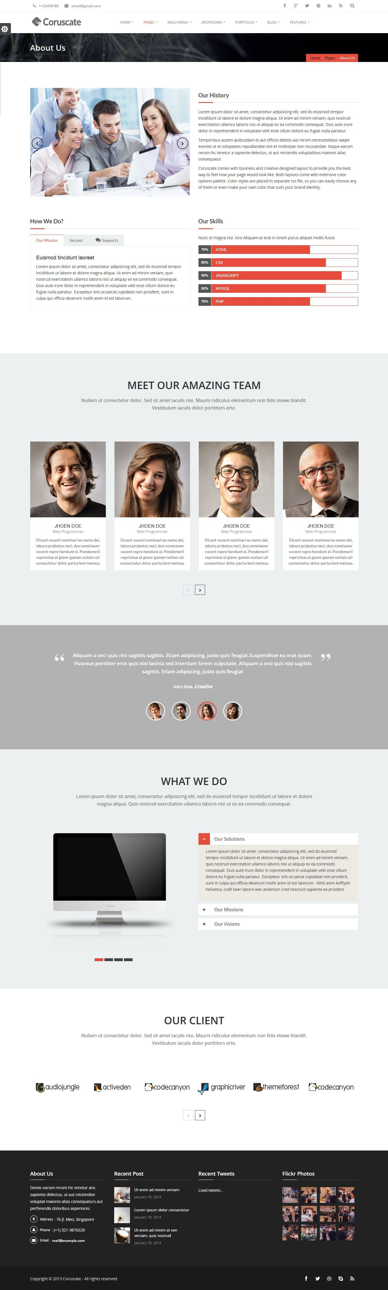 Coruscate - Multi-Purpose Responsive HTML Template