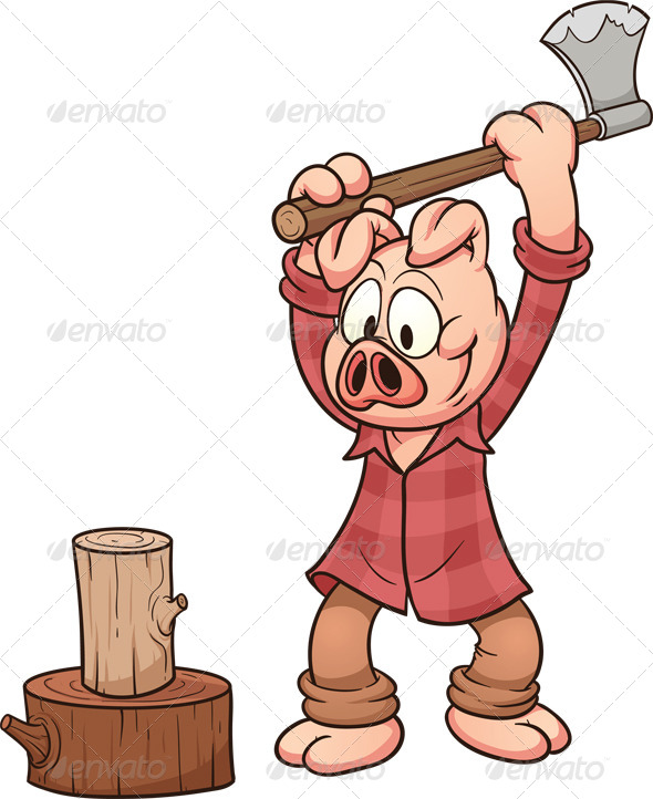 GraphicRiver Lumberjack Pig 6840849