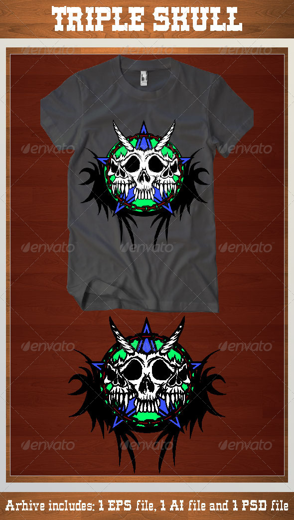 GraphicRiver Triple Skull 6841051