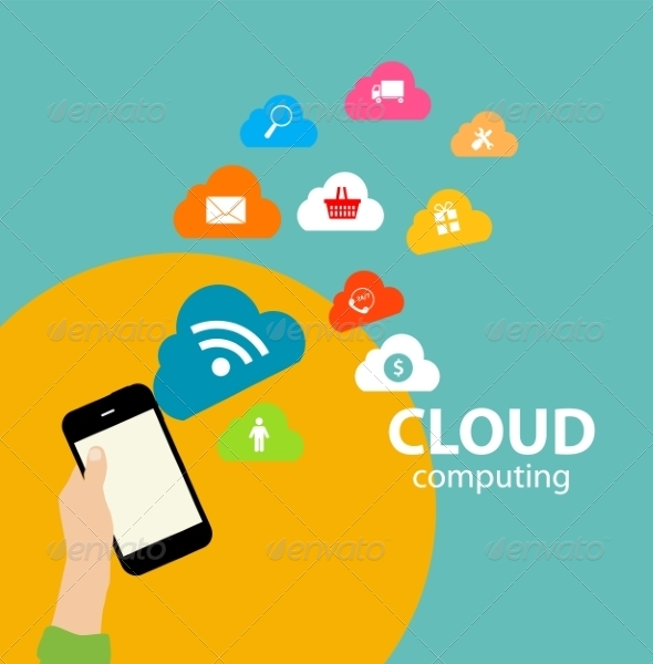GraphicRiver Cloud Computing Concept on Different Electronics 6841057