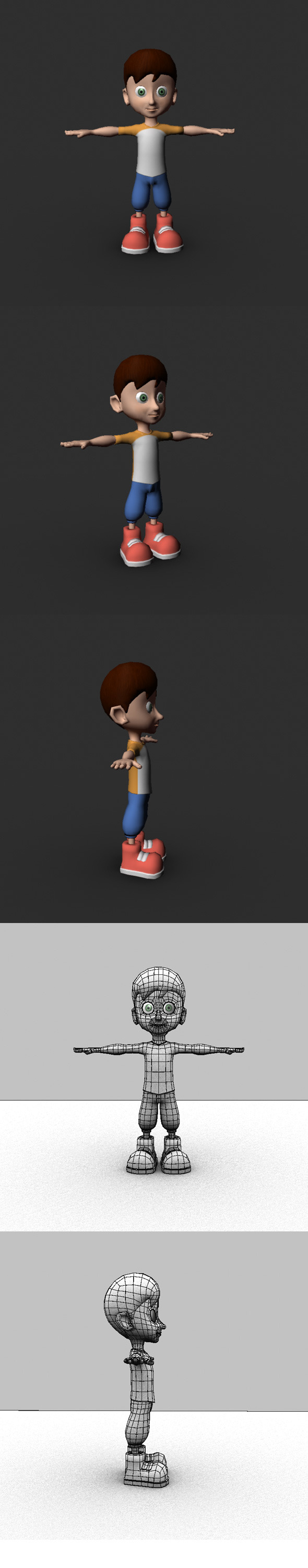 3DOcean Low Poly Cartoon Character 6841185