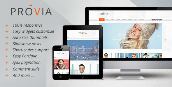 ThemeForest Provia Responsive MultiPurpose Blogger Template 6841298