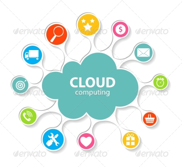 GraphicRiver Cloud Computing Concept on Different Devices 6841366